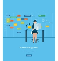 Flat design concepts for consulting teamwork vector