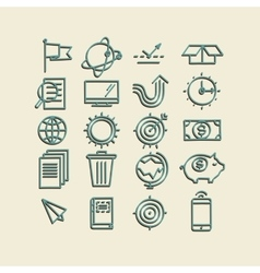 Hand drawn icons concept business web media seo vector