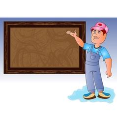 caricature businessman vector image