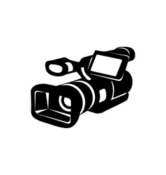 Camcorder simple icon vector