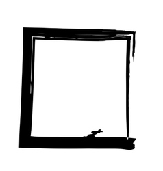 Frame square ink grunge background vector