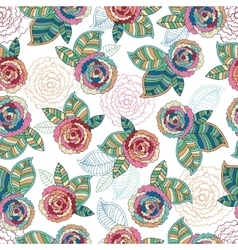 Abstract Elegance Seamless pattern with floral vector image vector image