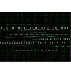 Abstract technological digital number background vector