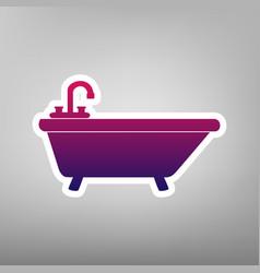 Bathtub sign purple gradient vector