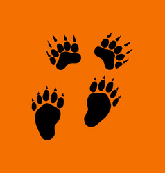 Bear trails icon vector