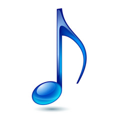 blue music note isolated on white background vector image vector image