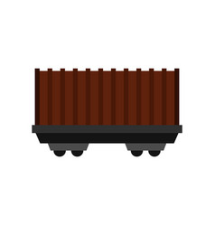 cargo wagon icon flat style vector image