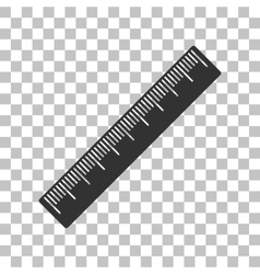 Centimeter ruler sign Dark gray icon on vector image vector image
