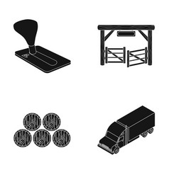 Computer alcohol and or web icon in black style vector