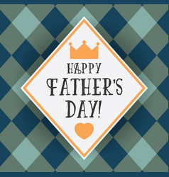 design greeting card for fathers day vector image