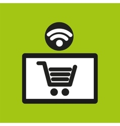 e-commerce online wifi icon vector image vector image
