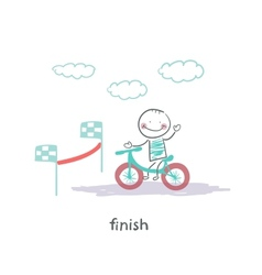 finish vector image