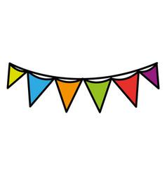 flag party celebration decoration design vector image vector image