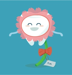 Flower of tooth for you vector image vector image
