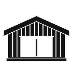 Garage icon simple style vector image