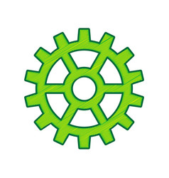 gear sign  lemon scribble icon on white vector image