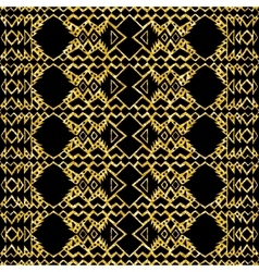 Gold glitter Aztec tribal mexican layout vector image