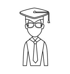 Graduation student hat vector