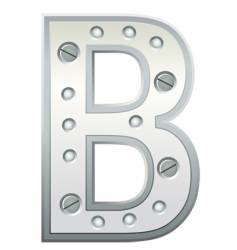 letter b vector image vector image