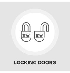 Locking doors flat icon vector image vector image