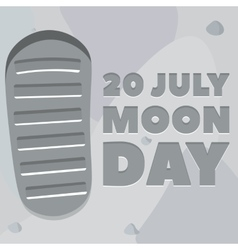 Moon day poster vector