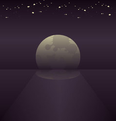 Moonlight background vector