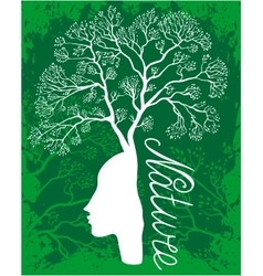 Nature woman tree vector image