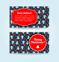 new year banner set vector image vector image