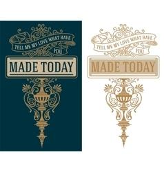 Premium quality insignia baroque ornaments and vector