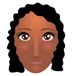 Pretty young african american woman with beautiful vector image