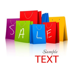 Sale shopping bags vector