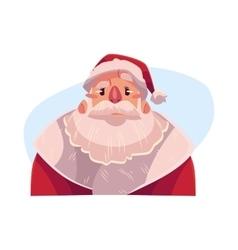 Santa claus face angry facial expression vector
