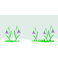 Seamless with snowdrops vector