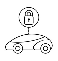 Smart or intelligent car security system vector