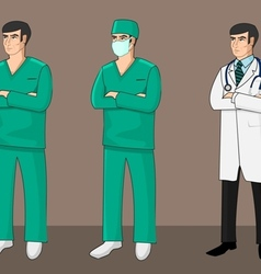 Three doctors vector