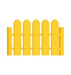 Yellow fence icon in cartoon style vector