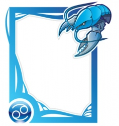 Zodiac frame series cancer vector