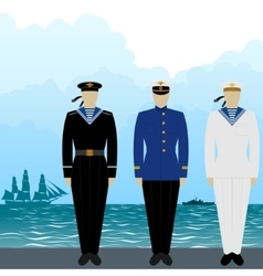 Uniforms sailors tsarist russia vector
