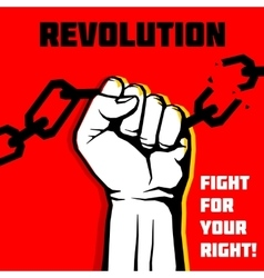 freedom revolution protest concept vector image