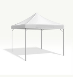 Mobile marquee tent for trade show mockup vector
