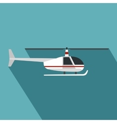 Helicopter icon flat style vector image