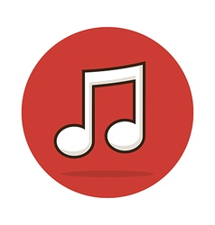Music note icon vector