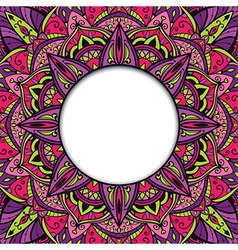 Colorful ornamental frame vector