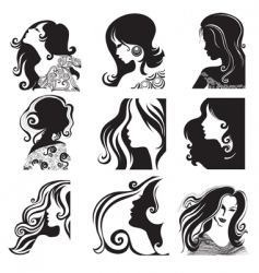 Silhouette ladies vector