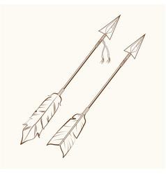Arrows american indian symbol vector