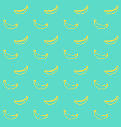 Banana fruit brush seamless pattern vector