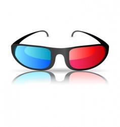 cinema glasses vector image