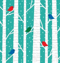 Birch trees vector