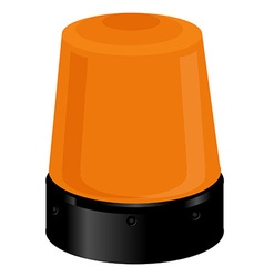 Orange police light vector