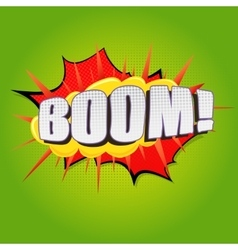 Boom comic speech bubble vector